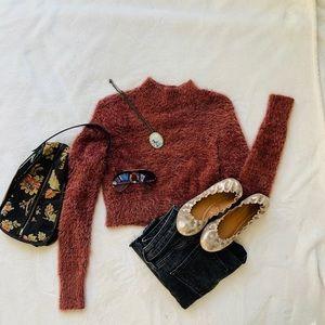 Express Rich Mauve/Wine Sweater